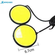 High Quality 2Pcs 67mm 120 COB LED Pure White Car Auto Round DRL Daytime Running Light Driving Fog Lamp Source DC12V(China)