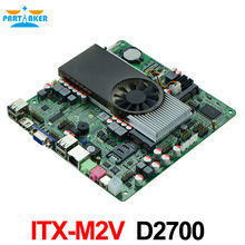 D2700 2.13Ghz GT520 2G discrete graphics all in one POS mini itx slim motherboard M2V NM10 Express DDR3 1080P 8USB2.0 2COM(China)