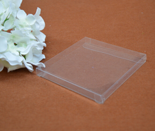 Qin.01.12/6.5*6.5*1cm Clear PVC box packaging, 100pcs/lot PVC plastic boxes for gift, Small PVC gift box pack