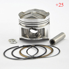 FZR250 1HX Piston Kit with Rings High Performance Motorcycle Piston For FZR 250 1HX (+25) 0.25mm Oversize Bore Size 48.25mm New(China)
