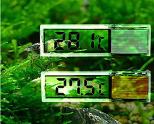 LCD Digital Electronic Aquarium Thermometer Fish Tank 3D Digital Temperature Meter Sticker For Fish Shrimp Turtle Gold Silver