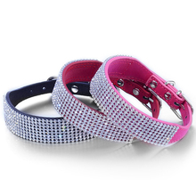 Pet collar 8 rows Mesh Diamond Full Bling Crystal Rhinestone Studded Dog Collars Alloy semicircle buckle pet collar cat necklace