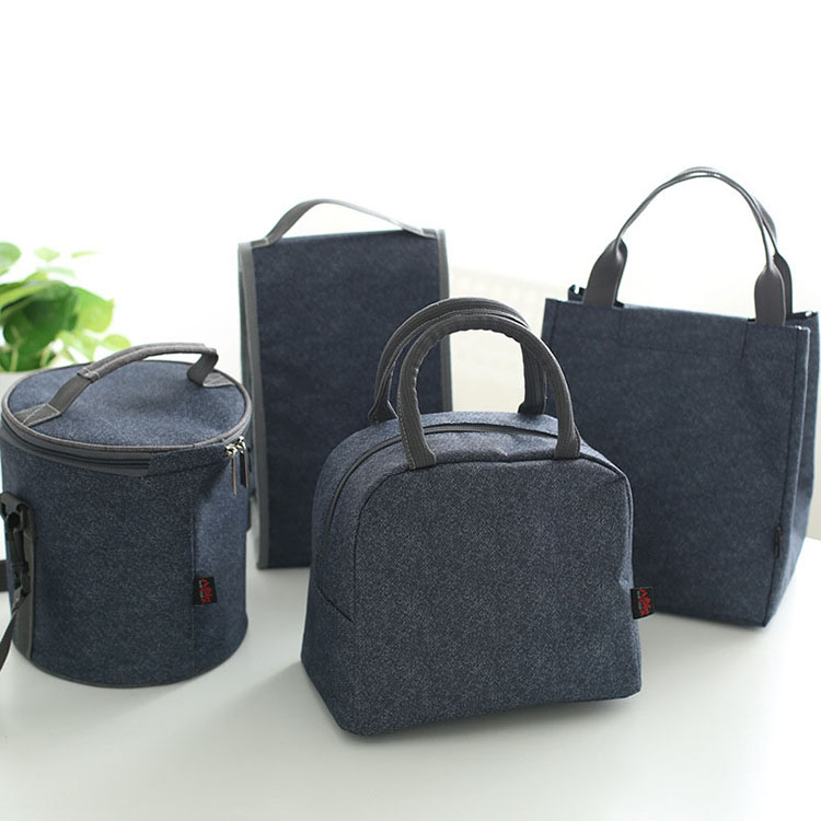 Denim Large Ice Cooler Bags Insulated Pack Drink Food Thermal