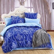 LILIYA 4/6Pieces Polyester / Cotton Bedding Set High Quality Pillowcase Sheet With Elastic Hot Seller Duvet Cover #M-