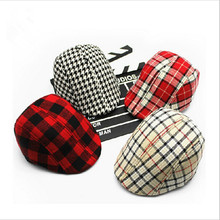 Spring Autumn Fashion Children Berets Plaid Hats For Baby Boy And Girl Hat Baby Beret Hat Boy Cap For Child Girl Beret Kids Caps