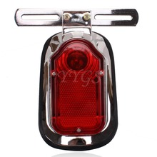 Motorcycle ATV Quad Cross LED Turn Signal Rear Tail Brake License Plate Light Red Taillight For Choppers Cruisers Classic(China)