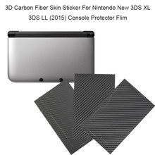 3D Carbon Fiber Skin Sticker For Nintendo New 3DS XL 3DS LL NEW 3DSLL 3DSXL Console Protector Flim Skin Sticker