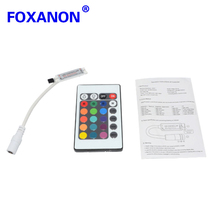 Foxanon RGB Controller Dimmer Switch Dynamic Modes and Color DC 12V 24Keys for 5050 3528 Led Strip lamps Light 1Pcs/Lot(China)