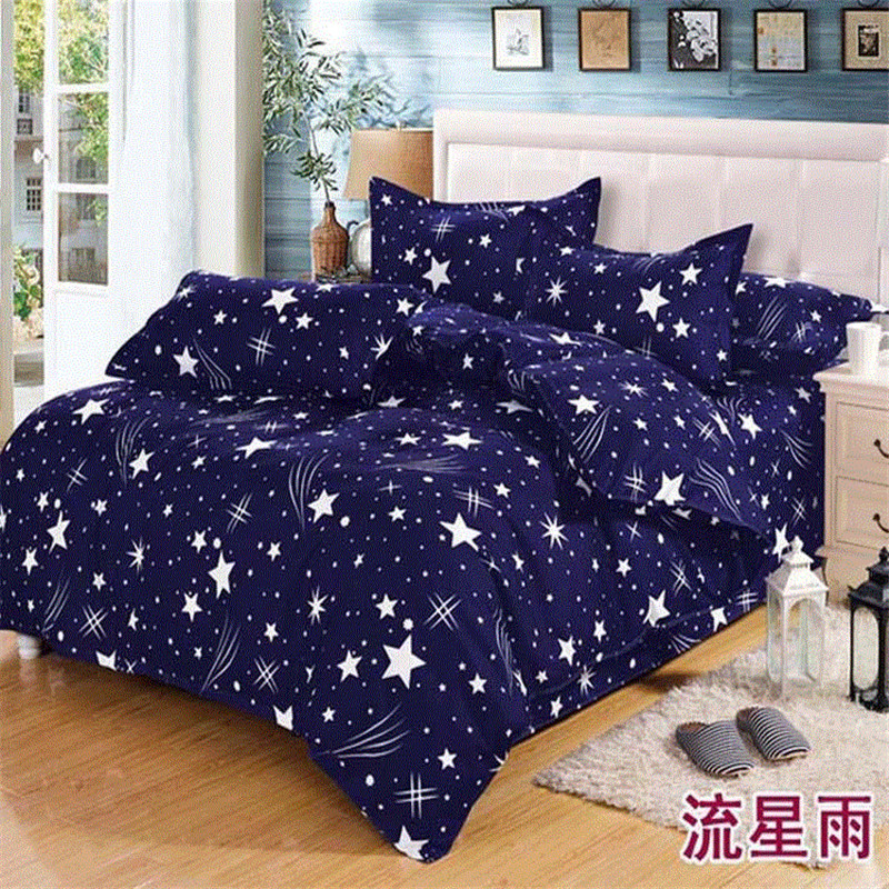 New Cotton Blend Bedding Set Duvet Cover Flat sheet Bed Sheet Pillowcase Fitted Sheet Twin Full Queen Size 9