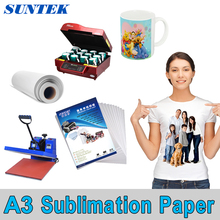 A3 100GSM Sublimation Transfer Paper(100sheets) for Ceramic Mug Phone Cover Garment Fabric Sublimation Heat Transfer Printing