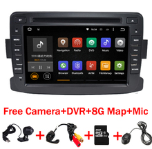 Quad Core Android 6.0 car dvd player For RENAULT DUSTER Dacia Logan Sandero Xray 2 Logan gps navigation bluetooth 4G DVR Map