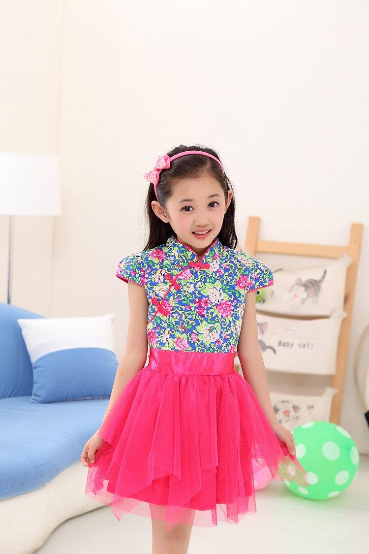 2017 Blue and white cotton dress princess vestidos girl dress<br><br>Aliexpress