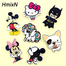 cute Animal acrylic Cartoon Brooches Pin lovely cat and dog Bear lapel pin small Minne Hello kitty Broches batman enamel jewelry(China)