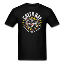 Newest 2017 men's fashion GREEN DAY revolution radio T shirt Men  tee Cotton t shirt slogans Customized shirts for mens