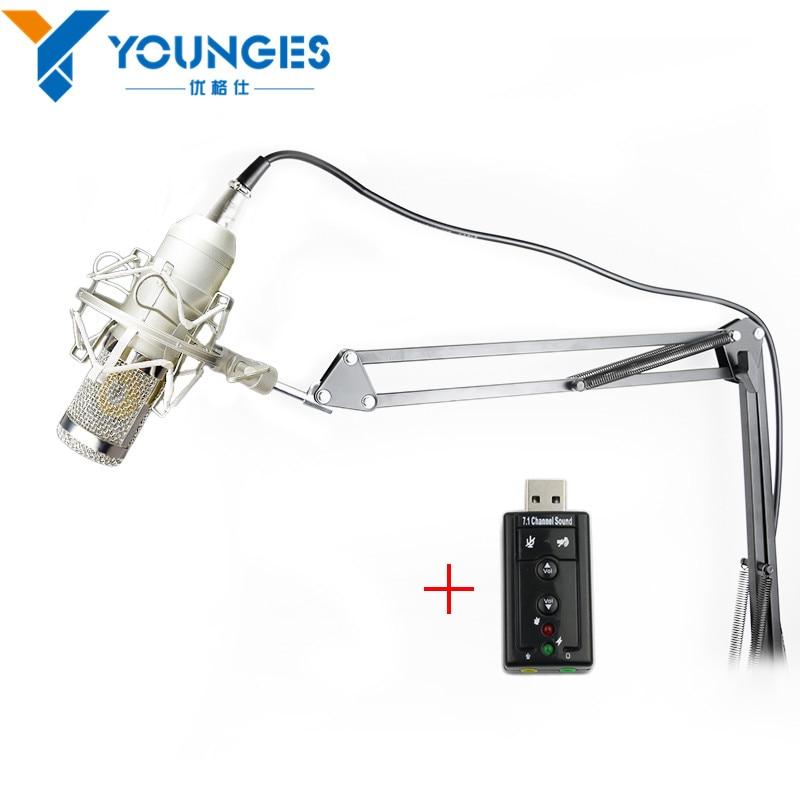 Professional BM-800 BM 800 Condenser KTV Microphone Cardioid Pro Audio Studio Vocal Recording Mic KTV Karaoke+ Metal Shock Mount<br><br>Aliexpress