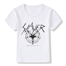 2017 Children Speed Metal Slayer Print T-Shirts Kids Summer Tops Girls Boys Short Sleeve T shirt Casual Rock Baby Clothes,HKP516