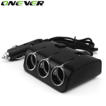 Universal 3.1A Output 3 Ways 120W Car Cigarette Lighter Sockets Splitter Power Adapter Dual USB Charger For All Phone And iPad
