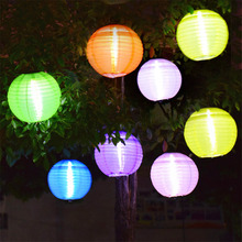 5PCS Outdoor 25CM Big Lantern Ball Solar Hanging Landscape Lamps Fairy Globe Wedding Party Hanging Garden Pathway Solar Light