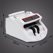 Digital Cash Counter Banknote Money Detector UV MG Counterfeit Detection with LED Display for Bank Retail Store