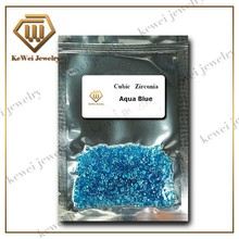 Dark Aquamarine Blue CZ Stone  AAAAA 1.0mm-2.5mm Blue Cubic Zirconia Stone Synthetic Gemstone