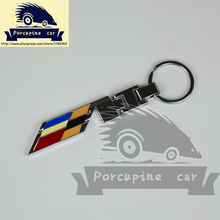 Porcupine car---Metal V Series Keying Keychain Key ring Fit for Cadillac SRX CTS-V STS-V XLR-V,car-styling