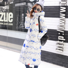 2017 fashion winter long slim large size thickening women down parka snow wear new over the knee ultra long  down jacket coat