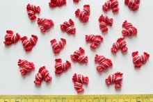 Set of 100pcs Resin red double dotted Candy Sweets Cabochons (15mm) Cell phone decor, hair pin, rings DIY
