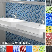 3D Swimming Pool mosic Wall Sticker Bathroom Waterproof Self adhesive Wallpaper Kitchen Mosaic Tile Walls Decal Home Decors 3