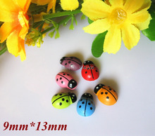 300pcs/lot Wedding Confetti Wooden ladybug sponge sticker Table Decoration Mixed Color,Weddings Party Home Decoration