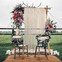 Buy Super Huge Handcrafted Macrame Hanging Drop Cotton Thread Bohemian Style Wall Hanging Retro Wedding Backdrop Home Decor 90*180cm for $40.38 in AliExpress store