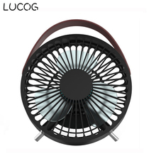 LUCOG Mini USB Desktop Fan with Portable Folding Bracket and Belt Handle Portable Personal Fan for Home Office Travel(China)