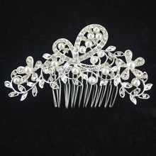 Women Imitation Pearl Tiara Boho Chic Bridal Head Accessories Hair Jewelry Hairpin Hairband For Wedding Photo Party