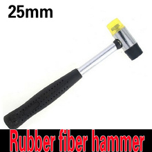 Steel pipe the handle installation hammer rubber fiber hammer DIY handmade model hammer 25mm electronic components Installation(China)
