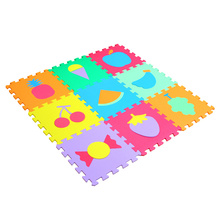 Children room Mini Soft Bedroom Baby Play puzzle Mat Cartoon Vehicles Baby Foam Mat Alfombra Goma Eva Puzzle Floor Carpets 9 Pcs(China)