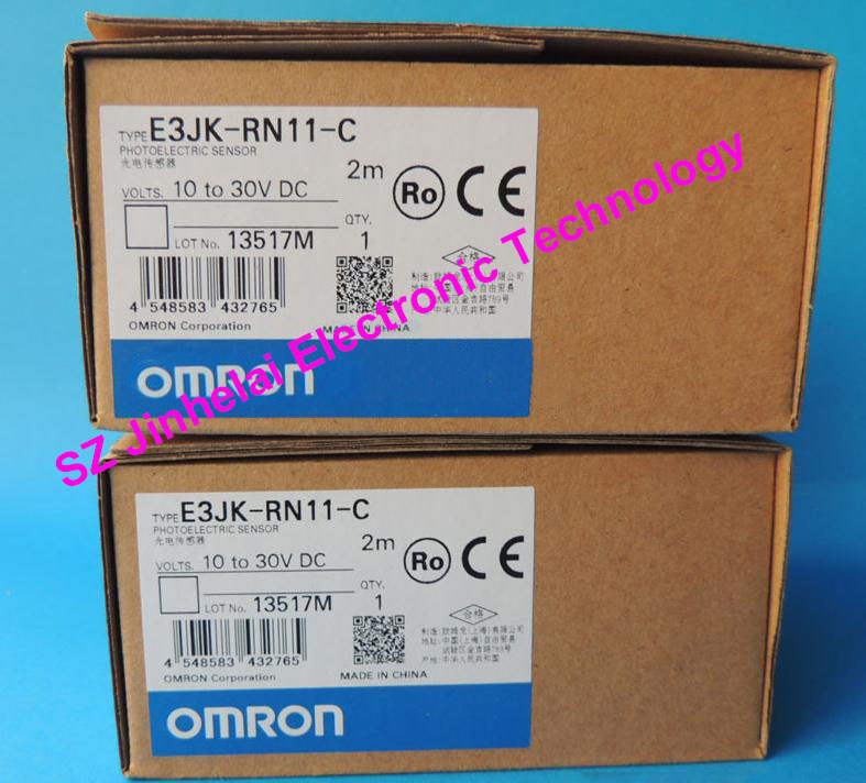 New and original OMRON  PHOTOELECTRIC SWITCH SENSOR E3JK-RN11-C  2M 10-30VDC<br>