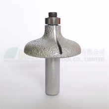 "DIATOOL No.14 Vacuum Brazed Diamond Router Bits With 1/2"" Shank For Stone, Router Cutter For Granite & Marble(China)"
