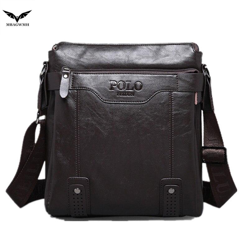2017 Hot Sale Mens Bag Genuine Leather Messenger Bag Men Fashion Crossbody Shoulder Bag Vintage POLO Bag Brand Casual Briefcase<br><br>Aliexpress