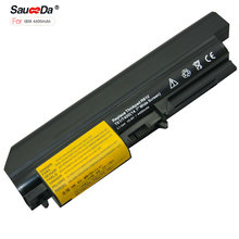 sauceda 6 cells Laptop Battery For IBM ThinkPad R61 R61i T61(14.1inch Wide screen) t400 T61u R400 4400mAh 10.8V bateria newest(China)