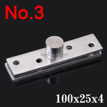 2PCS Stainless Steel Door Pivot Hinges 100mmx25mm 360 Degree Thickness 4.0mm Install up and down Furniture Hinges K187