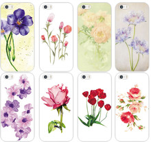 New Shell For Apple iPhone 5 5S 5G  Back Case Cover Printing Flower Floral Cell Phone Cases Rose flower cases MCA044