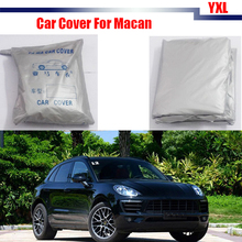 Cawanerl Car Cover Sun Snow Rain Resistant Cover Sun Shade Anti UV Car-Cover For Porsche Macan(China)