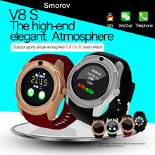 New Fashion Arrival High Quality Android Smart Watch V8S Wristwatch with Camera Touch Screen MTK6261D Fitness Tracker Clock