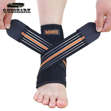 1pcs Sport Breathable Ankle Brace Protector Adjustable Ankle Support Pad Protection Elastic Brace Guard Support Football(China)
