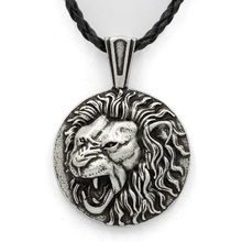 Viking Lion Head Massive Pendant Lion Jewelry Leo Necklace Animal Totem Necklace for Brave