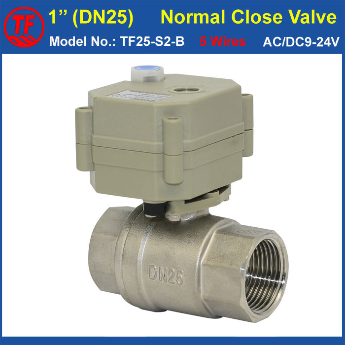 TF25-S2-B 2-Way Stainless Steel 1 DN25 Normal Close Valve With Manual Override AC/DC9-24V 5 Wires (CR502) With Signal Feedback<br><br>Aliexpress
