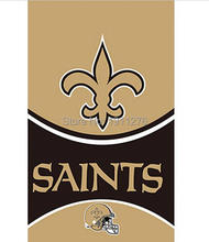 3x5ft New Orleans Saints flags 90x150cm polyester digital print banner with 2 Metal Grommets USA FLAG