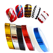 1 x 6mm Nail Rolls Striping Tape Waves Line Nail Art Sticker Tools Beauty Decor for on Nail Decals DIY Nail Art Tips LAND210