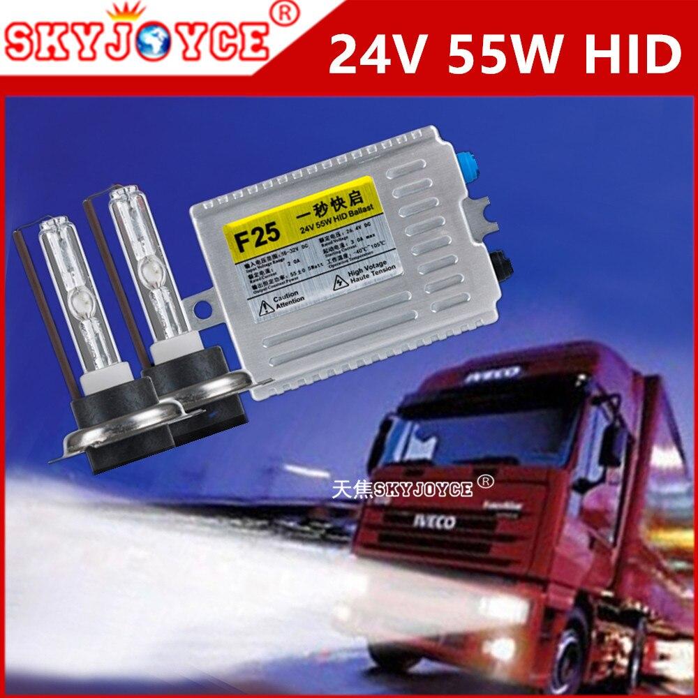 Truck Boat 24V HID xenon kit 55W xenon HID kit 24V truck xenon hid H1 H3  H7 24V HID headlight  Truck Van<br>