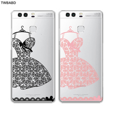Lace Dress Wedding Gift Fasion Accessory Phone Cases for Huawei P9 P9 Lite Thin Silicone TPU Cover
