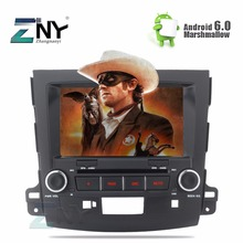 "ZNY 8"" Android 6.0 Car DVD For Mitsubishi Outlander 2007 2008 2009 2010 2011 Peugeot 4007 Radio RDS GPS Glonass Navigation WiFi"